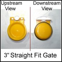 3 inch backwater valve - ML-SF334 3 inch Normally Closed Gate