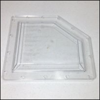 backwater valve replacement clear plastic lid for ML-FR4 Fio Backwater valves